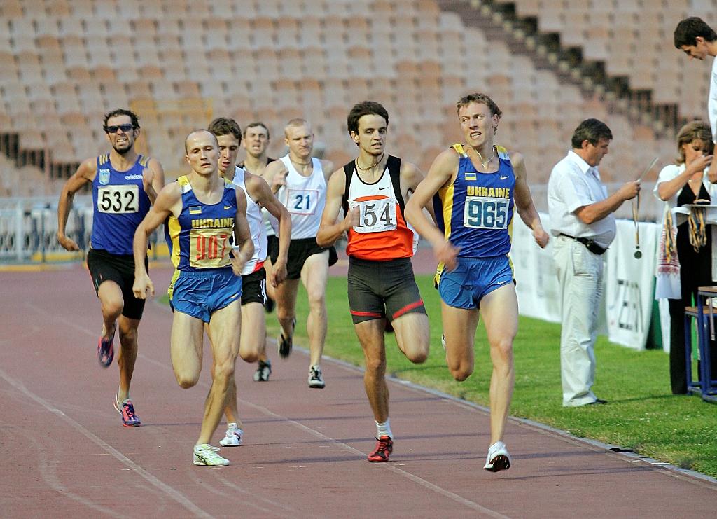 Чемпіонат України з легкої атлетики. На фініші майстер спорту, студент ННІ - Волошин Віталій